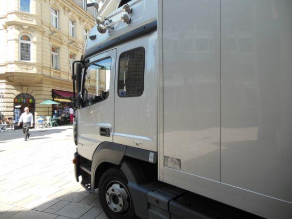 配送中のトラック